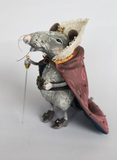 OOAK The Mouse King art doll Papier mache by ArtDollsByJelena