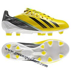 buy online d61b8 eccc7 Adidas F50 AdiZero TRX III - Yellow-Black green Youth Soccer Shoes, Kids  Soccer