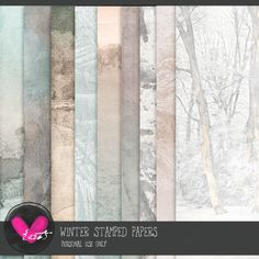 Winter Dreams Papers by #heartjournaling #thestudio #digitalscrapbooking