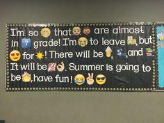 Emoji end of year bulletin board