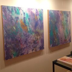 """Pair of 36 x 36. """"Mardi Gras"""" collection. Chandler Hines Art"""