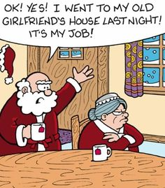 Santa Visits His Old Girlfriends House   ---- hilarious jokes funny pictures walmart fails meme humor