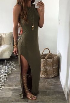 Gladiator sandals are the perfect accessory for summer outfits!, Summer Outfits, Gladiator sandals are the perfect accessory for summer outfits! Source by millennialboss. Mode Outfits, Casual Outfits, Fashion Outfits, Classy Outfits, Late Summer Outfits, Summer Dresses, Summertime Outfits, Summer Maxi, Party Summer