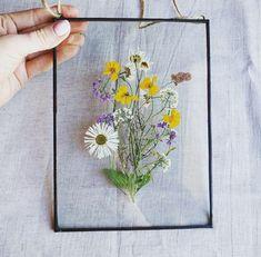Decor herbarium frame flower art gift for flower lovers Hanging Frames, Frames On Wall, Origami Rose, Pressed Flower Art, Dried Flowers, Potted Flowers, Flower Frame, Flower Crafts, Flower Decorations