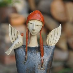 Paper Mache Crafts, Polymer Clay Crafts, Diy Clay, Pottery Sculpture, Sculpture Clay, Ceramic Clay, Porcelain Ceramics, Paper Clay, Clay Art