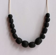 Black Pebble Necklace by TDESIGN on Young Republic - http://www.youngrepublic.com/jewelry/necklaces/black-pebble-necklace.html