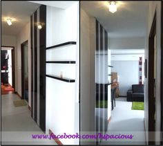 HDB Shelter Feature Wall with display Dining Area Design, Shelter, Living Spaces, Divider, Design Inspiration, Display, Wall, Room, Furniture