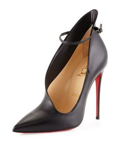 Vampydoly Asymmetric Red Sole Pump, Black by Christian Louboutin at Neiman Marcus.