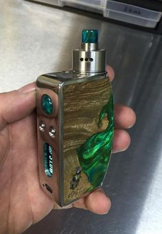 Green & Marble Custom Vape Mod