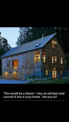 Old Barn fixed up, to an amazing house!!