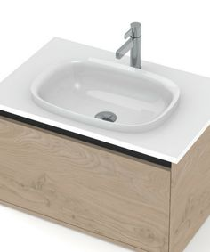 Mecca Basin, Mineral Cast, Semi-inset | St Michel Bathroomware Basins, Mecca, Mineral, Cherry, It Cast, Home Decor, Decoration Home, Room Decor, Cherries