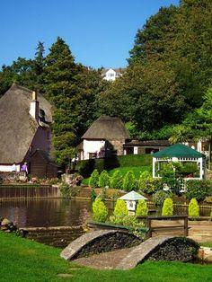 The picturesque village of Cockington, Devon, UK