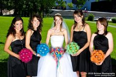 here are the different bouquets that you were talking about lace