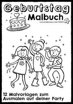 Malbuch Geburtstag Birthday Coloring Pages, Apps, Comics, Fictional Characters, Coloring Pages, Birthday Celebrations, Invitations, Studying, App
