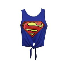 NEW LADIES WOMENS GIRL SUPERMAN,BATMAN,COCA COLA LOGO PRINTED CROP TOP... ($1.47) ❤ liked on Polyvore
