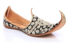 Awesome Men Turn Up Khussa A traditional Asian and Indian Men Khusas. Leather and hand crafted shoes embellished with beads and thread work. perfect for weddings and parties.   http://www.unze.co.uk/products_Men_Khussa-%28Indian-Slippers%29_Turn-Up-Khussa.html