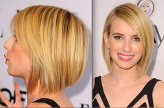 The Best Long Bob Hairstyles: Emma Roberts' Graduated Bob