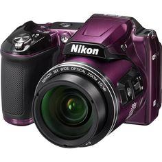 Nikon - Coolpix L840 16.0-Megapixel Digital Camera - Plum - Left Zoom