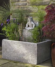 The Bali Frog Fountain requires water plants galore to create the perfect tropical escape.