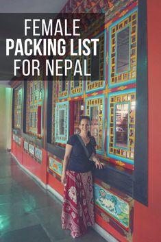 Female Packing List for Nepal for Non-Trekkers
