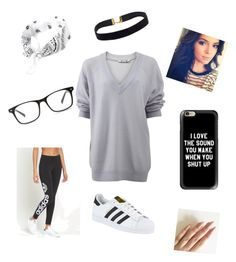 """BAWSE"" by haileysartorius on Polyvore featuring T By Alexander Wang, adidas Originals, adidas and Casetify"