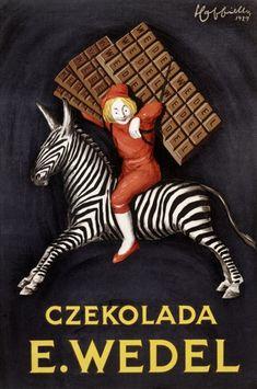 Czekolada E. Wedel. Chocolate ad designed by Leonetto Cappiello, 1929.