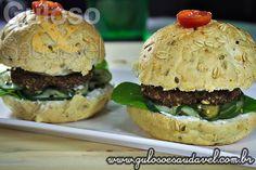 Sanduíche de Hambúrguer Caseiro » Receitas Saudáveis, Sanduíches » Guloso e Saudável