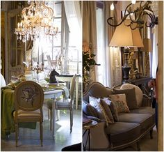 """Mis En Demeure"" a very upscale home interior shop in Paris on the Left Bank.  I would love to see it."