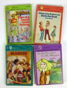Judy Blume Books (early 80's)~Image © Attys Sprout Vintage  (Etsy)