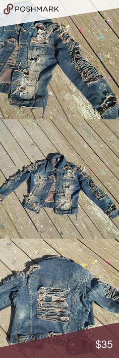 Selling this Custom Made juniors Jean jacket on Poshmark! My username is: custom2it. #shopmycloset #poshmark #fashion #shopping #style #forsale #No Boundaries #Other