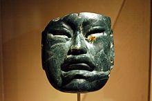 Ольмекская жадеитовая маска, 1000–600 до н. э.