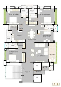 An Apartment Interior With Contemporary And Minimalist Functions Apartment Plans, Apartment Interior, Apartment Design, Indian House Plans, Best House Plans, Duplex Floor Plans, House Floor Plans, North Facing House, Interior Design Layout