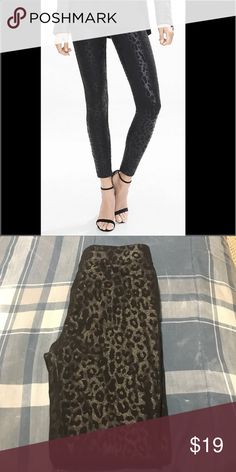 Express cheetah print leggings! Never worn! Brand new condition. Really adorable for a night out! Express Pants Leggings