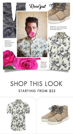 """""""FLORAL SHIRT"""" by larissa-takahassi ❤ liked on Polyvore featuring men's fashion and menswear"""
