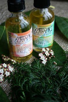 facial set \\ cleansing face oil + refreshing toning mist \\ #beauty #skincare #facial #faceoil #toningmist #toner #merakibotanicals #natural