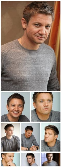 Jeremy Renner.  Love this!  The Many Faces of Perfection.