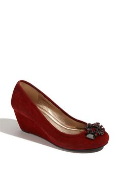 A rich red coloring and walkable wedge heel make these the perfect shoe for your fall wardrobe!