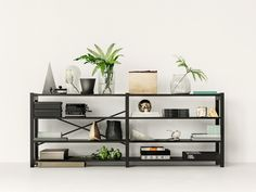 Same black Lundia Classic as the next picture but without drawers and doors.