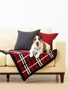 Craft Passions: Plaid Pet Blanket..# free #Knitting pattern link here