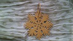 Купить снежинка №5 - бежевый, елочные игрушки, елочная игрушка, елочные украшения, елочное украшение