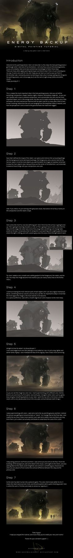 Sci Fi Painting Tutorial by keepwalking07.deviantart.com on @deviantART