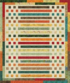 Morse Code Quilt - uses jelly rolls (free pattern by Timeless Treasures)