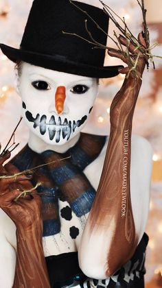No! This is so creepy!!! Like the snowman is bad enough, but the twigs too? That is one step too far!