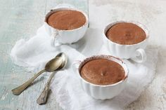 Mousse al cioccolato alla francese - Fidelity Cucina Mousse, 100 Calories, Muffin, Food And Drink, Pudding, Chocolate, Cooking, Tableware, Desserts