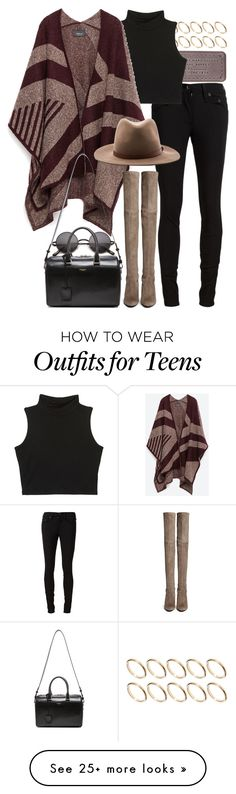 """Untitled #7693"" by nikka-phillips on Polyvore featuring ASOS, Marc by Marc Jacobs, rag & bone/JEAN, Zara, Stuart Weitzman, rag & bone and Yves Saint Laurent"