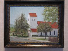 Painting of Bethania Lutheran Church Solvang CA. By Rick James Marzullo.
