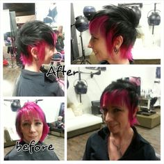 Rocker inspired cut. Previous color done by unknown.