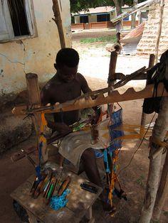Kente weaving by thomwisdom, via Flickr