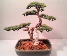 Vintage Mid-Century Bonsai Tree in Hull Planter