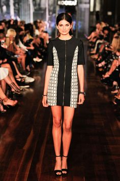 Gridlock Dress $180 and Carrie Heel $160 work on our AW14 Runway Show! Xx